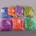 8 pack mezcla Loom 600 bandas/pack kit bandas telar De Goma para los niños DIY pulseras color de la mezcla de goma conjunto de bandas