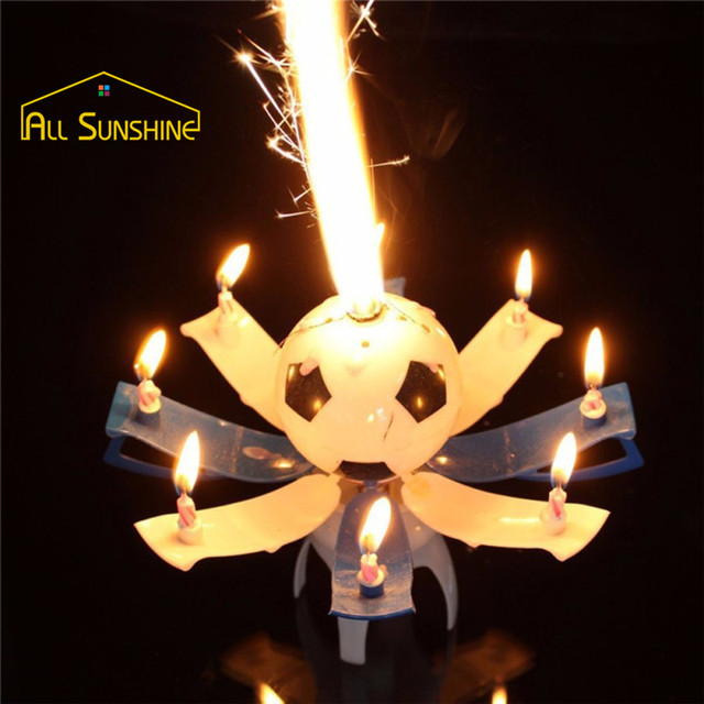 6 Color Birthday Candle Candle Fireworks Cake Candle Automatic