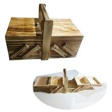 Путешествия потертый Органайзер большой Ёмкость дома со для ручек матраца ящик для хранения Винтаж косметический чехол мульти Слои Портативный из дерева