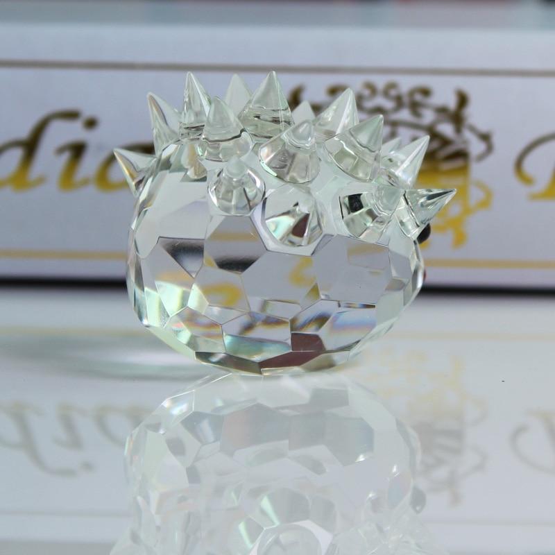 XINTOU Crystal Glass Animals Ոզնին Նկարներ - Տնային դեկոր - Լուսանկար 3