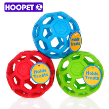 HOOPET Drain Food Ball Dog Toy Natural Non-Toxic Rubber Teddy Golden Dog Geometric Toy Ball Bite-Resistant Teeth 3Colors(China)