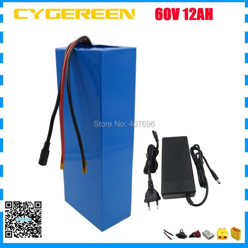 60 Volt Lithium battery 60V 12AH 900W electric bike battery 60V 12AH akku use 2000mah 18650 cell 15A BMS Free customs fee стоимость
