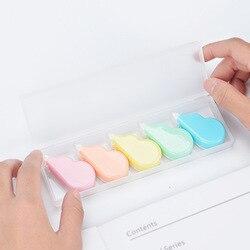 Fita corretiva de nuvem 5 peças, cores, conjunto 5mm, fitas brancas para correção de artigos de papelaria, acessórios de escritório, material escolar f329