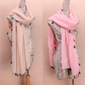New HOT!All Match Colorful fringed shawl women Tassel Cotton scarf  ladies scarves 2015 winter Spring echarpes foulards femme