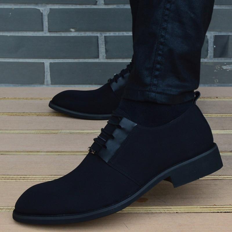 Alta Toe 2019 Casuais Primavera Negócios Qualidade Calçados Sapatos Até Hombre Zapatos Respirável De Nova 2032black Preto Rendas Dos Vestem Homens Apontado TrvT1Y