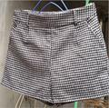 2017 Autumn winter spring women shorts mid waist Houndstooth shorts plus size woolen shorts women