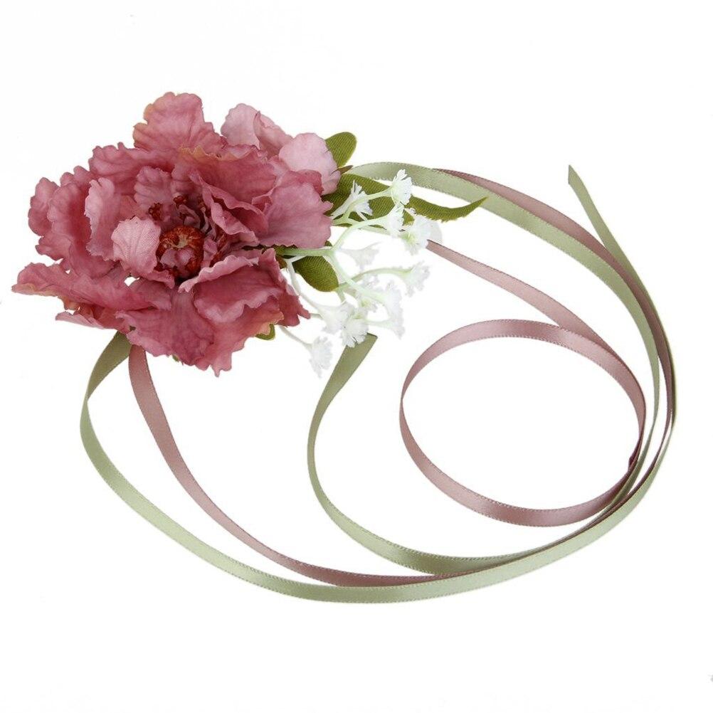 Wedding Flower Brides Bridesmaids Stretch Wedding Rose Wrist Corsage