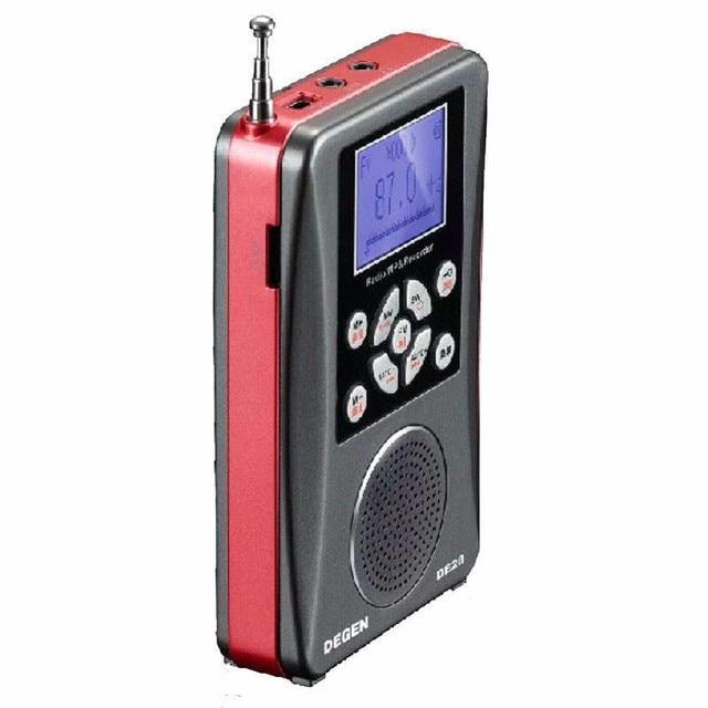 Original Degen Radio FM/MW/SW DE-28 Full-Banda de Onda Corta receptor de radio portátil Soporte de Gran tamaño de Puntos Con Retroiluminación LED freeshipping