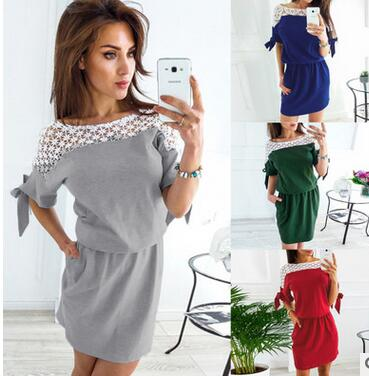 Women 39 s Sexy Lace Panel Waist Slim Dress in Dresses from Women 39 s Clothing