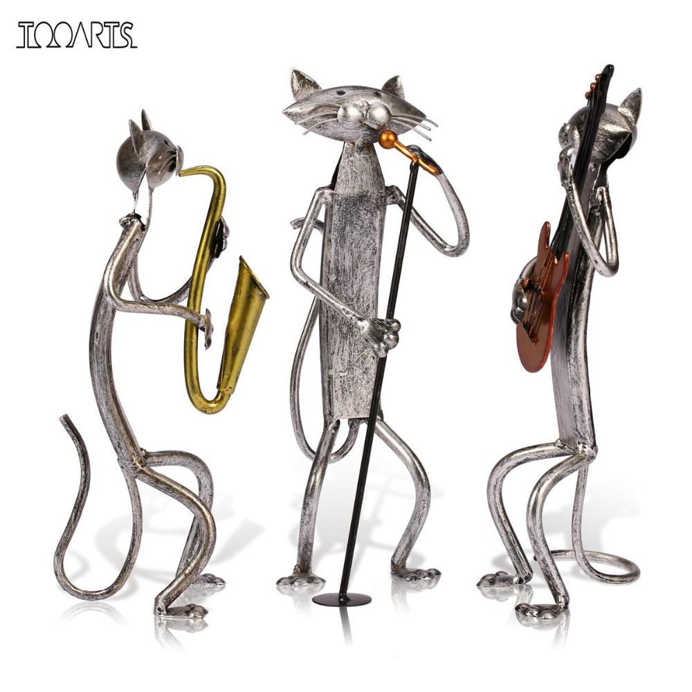 Tooarts Metal Sculpture A Playing Guitar/Saxophone/Singing