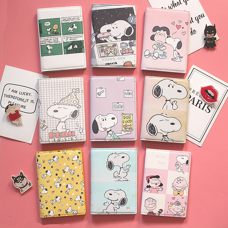 Cartoon Dogs Design Kids Passport Cover Child Travel Passport Case Men Business Passport Holder Card ID Holders Passport Package