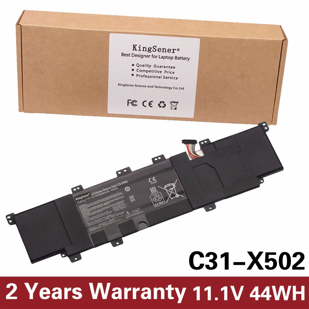 KingSener New C31-X502 Battery For ASUS VivoBook X502 a S500C S500CA PU500C PU500CA 11.1V 44WH Free 2 Years Warranty