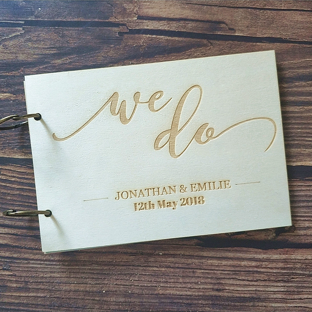 Personalized Country Wedding Gifts: Wood Personalized Wedding We Do Wooden Guest Book Rustic