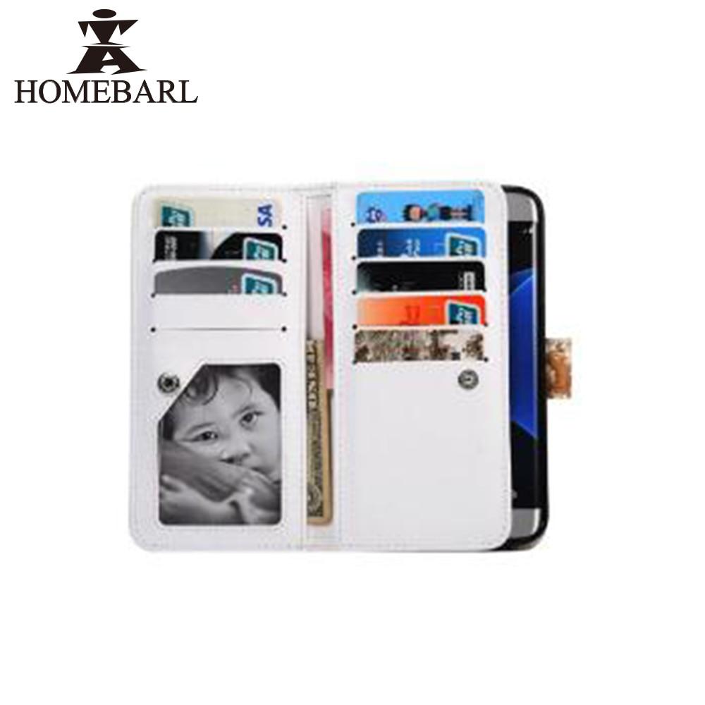 HOMEBARL Brand Luxury PU Leather <font><b>Case</b></font> Wallet Pocket Style <font><b>Phone</b></font> Cover <font><b>Flip</b></font> With 9 Card Slot Purse For Samsung Galaxy <font><b>S7</b></font> <font><b>Edge</b></font> 6C7