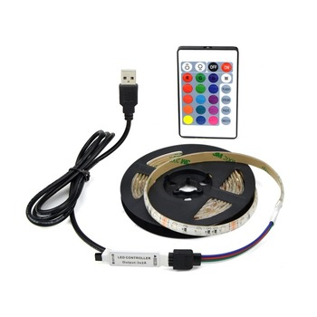 USB Powered DC 5V LED Strip light 2835 RGB / White/ Warm White Waterproof Tape LED Lamp 1M 2M 3M 4M 5M TV Background Lighting LED Strips
