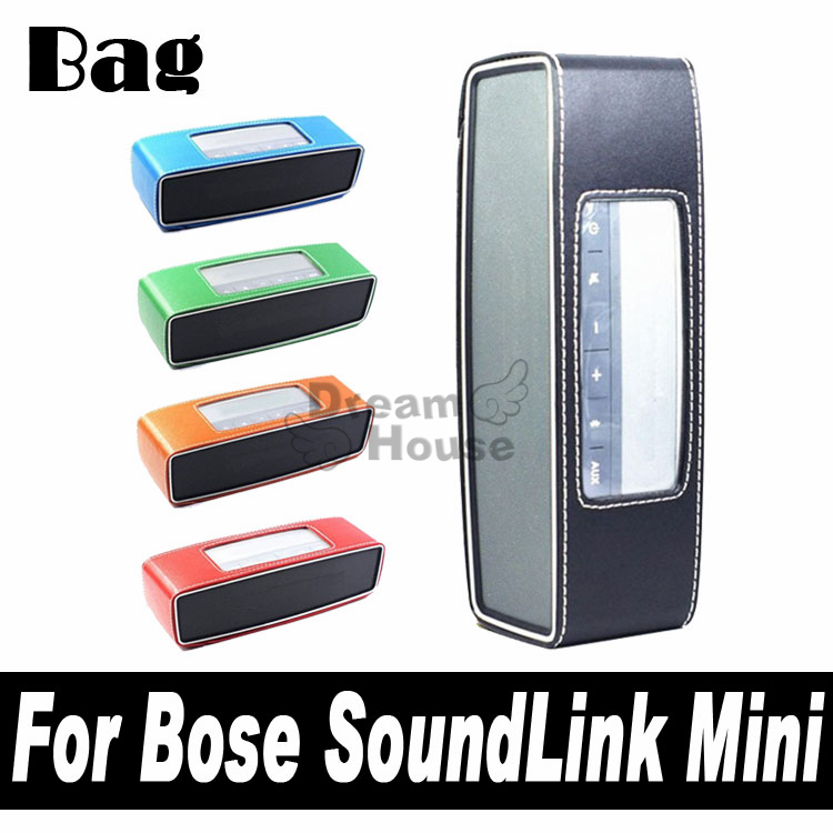 2015 High Quality Arrival Colorful Raw Leather PU Travel Bag Case Cover Skin For Bose Soundlink Mini Bluetooth Speaker