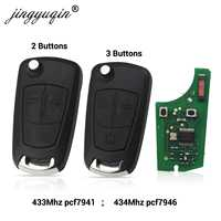 jingyuqin Car Remote PCF7941 Key Suit for Opel/Vauxhall Astra H 2004-2009, Zafira B 2005-2013 PCF7946 For Vectra C 2002-2008