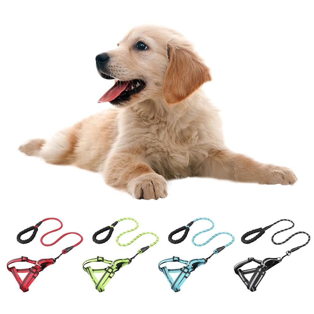 1 Pc Verstelbare Zachte Ademend Hond Harnas Nylon Mesh Vest Harnas Voor Honden Puppy Kraag Kat Hond Borstband Leash Bloedcirculatie Activeren En Pezen En Botten Versterken