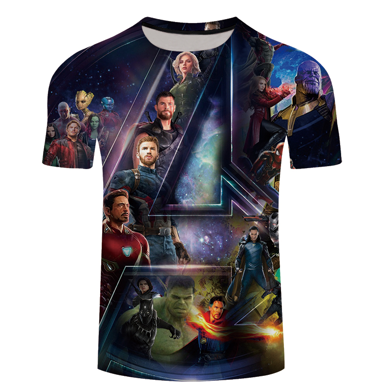 2018 3D T-shirts Men Avengers Infinity War 3D Print Hot Film Design Streetwear Summer Hipster Tee Shirts Tops Fitness