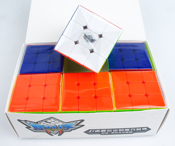 Cyclone Boys Bundle 6PCS/Set Gift Pack 5.6cm 3x3x3 Magic Speed Cube Puzzle Professional 3x3 Cubo Magico Educational Toys For Kid