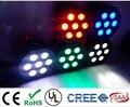Cree led par 7x12 w rgbw 4in1 led 4/8 canais dmx led plana par luzes de luxo
