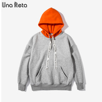 Una Reta Oversize Hoodies Men Brand Design New Men Outerwear Pullovers Hip Hop Style Winter Men