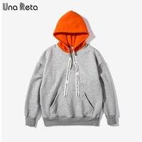 Una Reta Oversize Hoodies Men Brand Design New Men Outerwear Pullovers Hip Hop Style Winter Men
