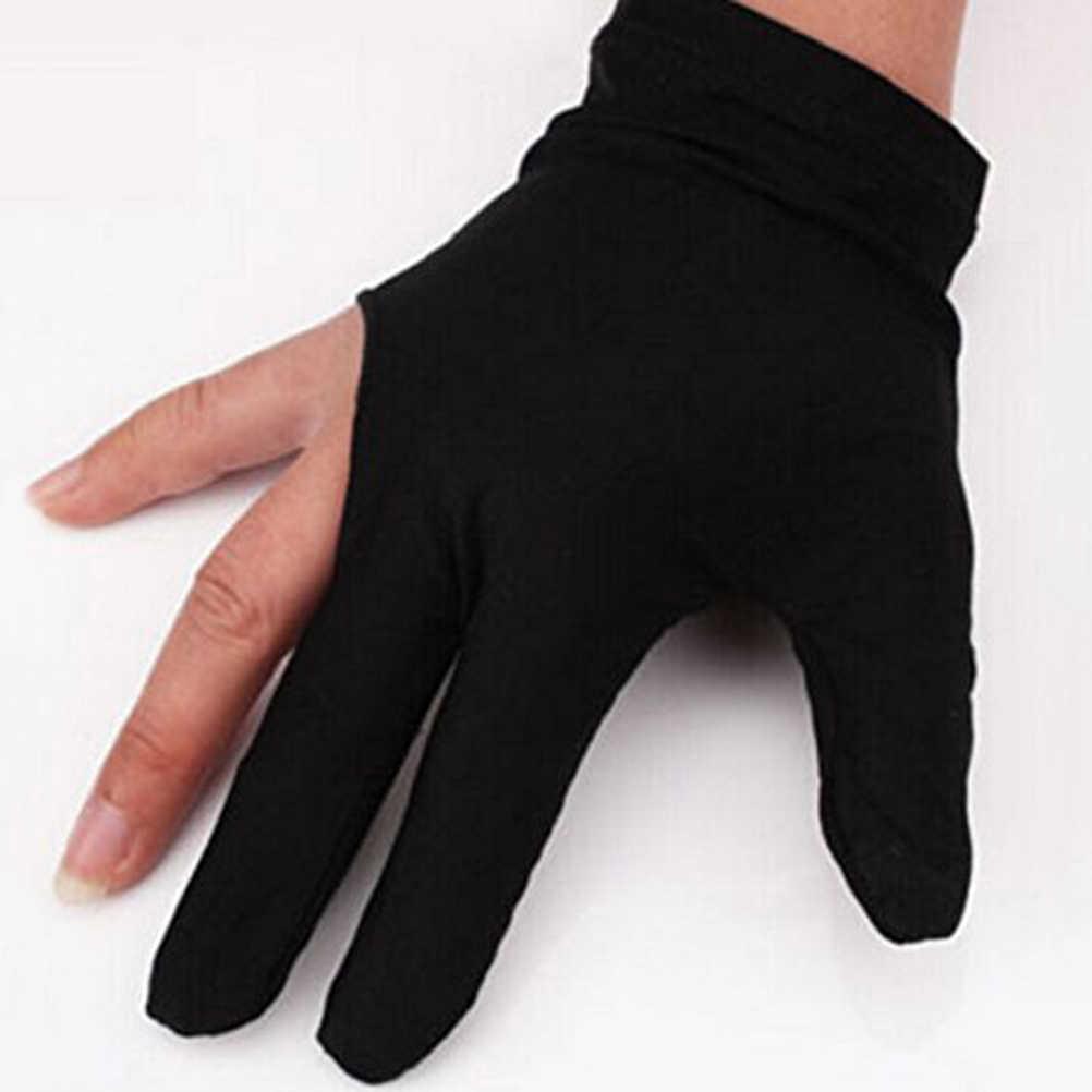 4 цвета спандекс кий для снукера бильярда перчатки бассейн левая рука открыть три пальца аксессуар для унисекс женщин и мужчин
