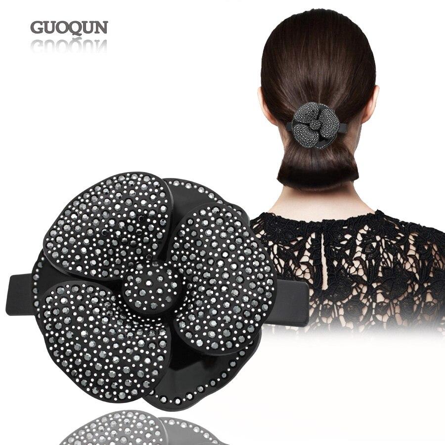 купить Hair Clips Hair pins Alexander Acetate Cellulose Rhinestones Camellias Bridal Hair Accessories Ornament Tiara for Women Jewelry по цене 1155.28 рублей