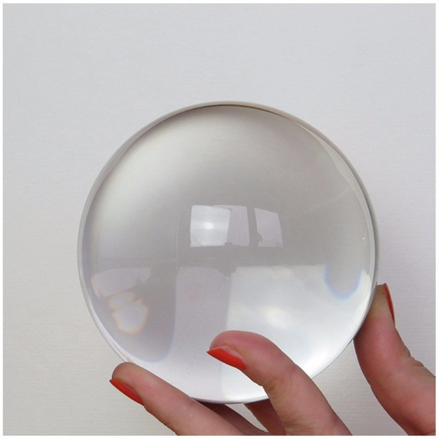 50-80mm Quartz FengShui Magic Crystal Sphere Balls Photography Glass Crystals Craft Props Home Tabletop Decoration Creative Gift