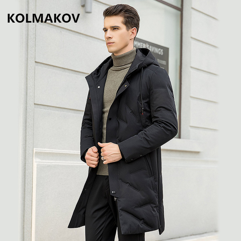 2018 winter casual fashion hooded Down Jackets mens 90% white duck down jakcet men, men's high quality warm Classic coat