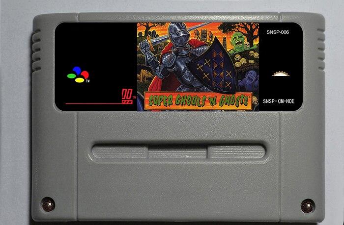 Super Ghouls 'n Ghosts-cartucho de juego de acción versión EUR 16 bit 46 pin