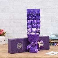 Rose Soap Flower Girlfriend Birthday Gift Bouquet Gift Box Foreign Trade Simulation Flower Customization