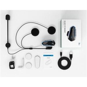 Image 5 - Мотогарнитура Qtb35 для мотоциклетного шлема, водонепроницаемые наушники с поддержкой Bluetooth, FM радио