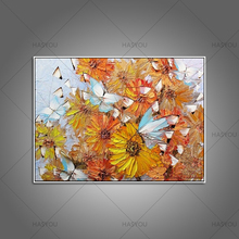 New modern home decor living room bedroom colorful butterfly wall Art Picture handpainted oil Painting on Canvas art work