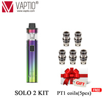 gift 5pc coils Vape Pen Kit Solo 2 KIT with 3000mAh Built in Battery 2.0/4.0ml All In One Style electronic cigarette vaporizer