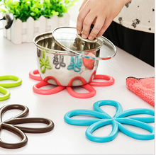 100 Piece pvc dining table placemat coaster kitchen accessories mat cup bar mug cute flower drink