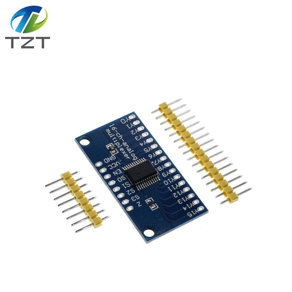 TZT Smart Electronics CD74HC4067 16-Channel Analog Digital Multiplexer Breakout Board Module For arduinoTZT Smart Electronics CD74HC4067 16-Channel Analog Digital Multiplexer Breakout Board Module For arduino