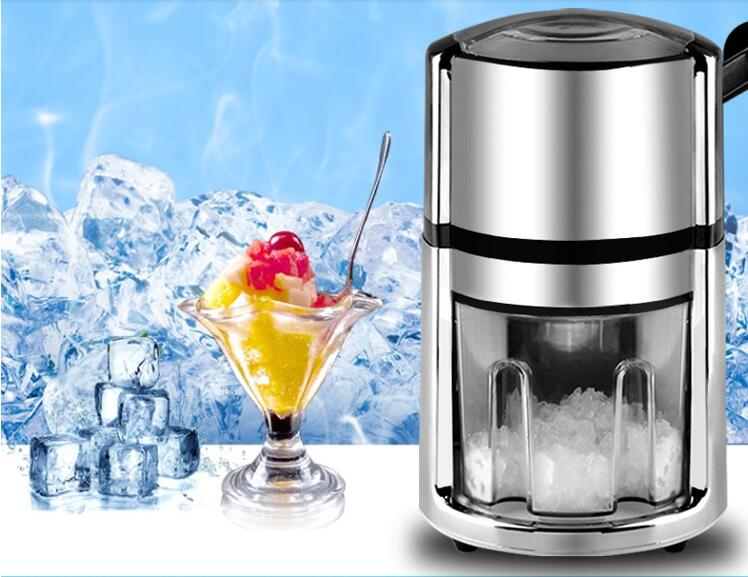 Manual Ice Crusher Shaver Snow Drink Slushy Maker Blender Cocktail Maker Stainless Steel Ice Crusher Shaver