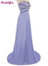 KapokBanyan Real Photo Lavender Chiffon Beads long Prom Dress 2017 Custom made Sweep Train Sweetheart Party Robe de soiree