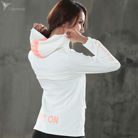 Women Sport Jacket Hooded Zipper Running Jackets Windproof Long Sleeve Yoga Shirts Outdoor Fitness Gym Workout Tops Sportswear