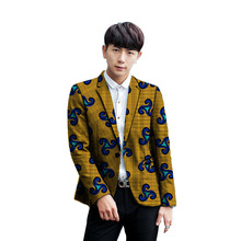 New Style African Men Blazers High Quality Single Breasted Suit Jacket Dashiki Print Clothing