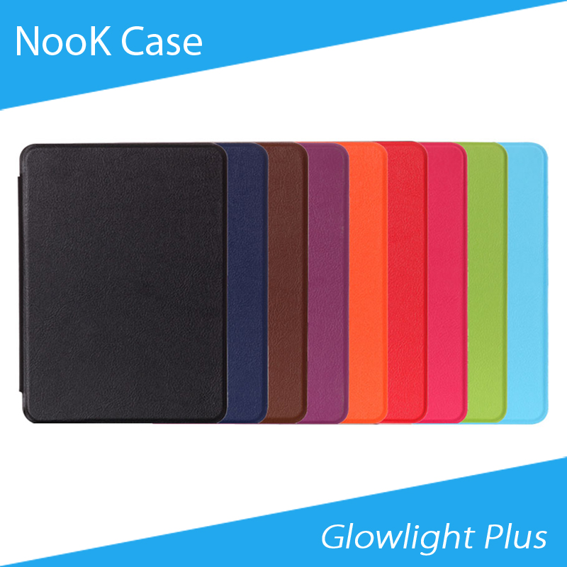 [Free Shipping] Kasite Heat Press PU Leather Case for Nook Glowlight Plus 6'' eBook Reader High Quality protective pu leather pc case for nook glowlight brown black