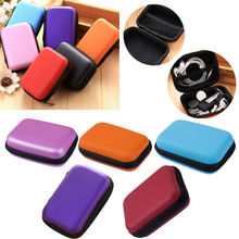 Portable Travel Headset Earphone Earbud Cable Storage Pouch Bag Hard Case Insert Flash Drives Box Bags