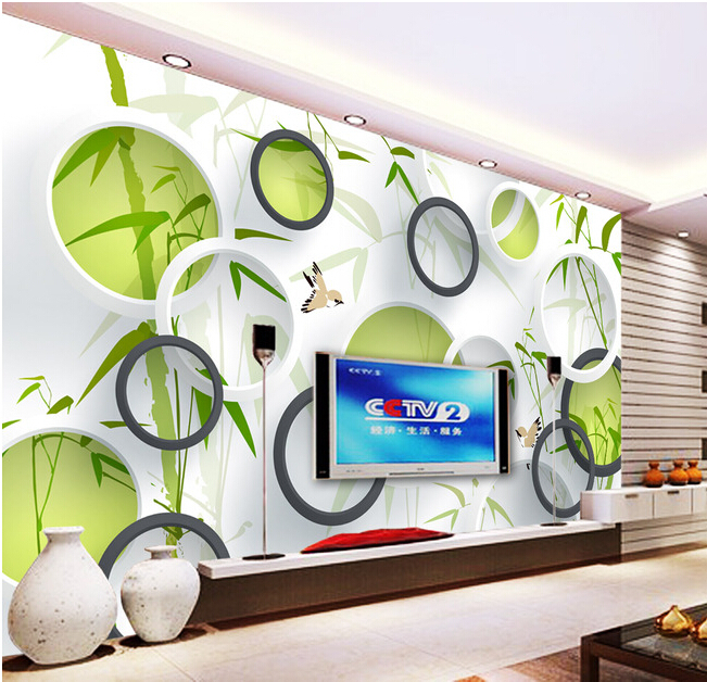 Custom 3 d stereoscopic wallpaper, bamboo mural for TV wall of sitting room bedroom study waterproof vinyl papel DE parede custom 3d photo wallpaper 3d stereoscopic green forest mural for living room bedroom tv backdrop waterproof papel de parede