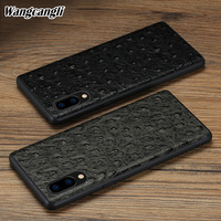 Wangcangli All inclusive soft case for vivo x21 ostrich pattern mobile phone protection case for vivo x9 x9s x20 X21 NEX