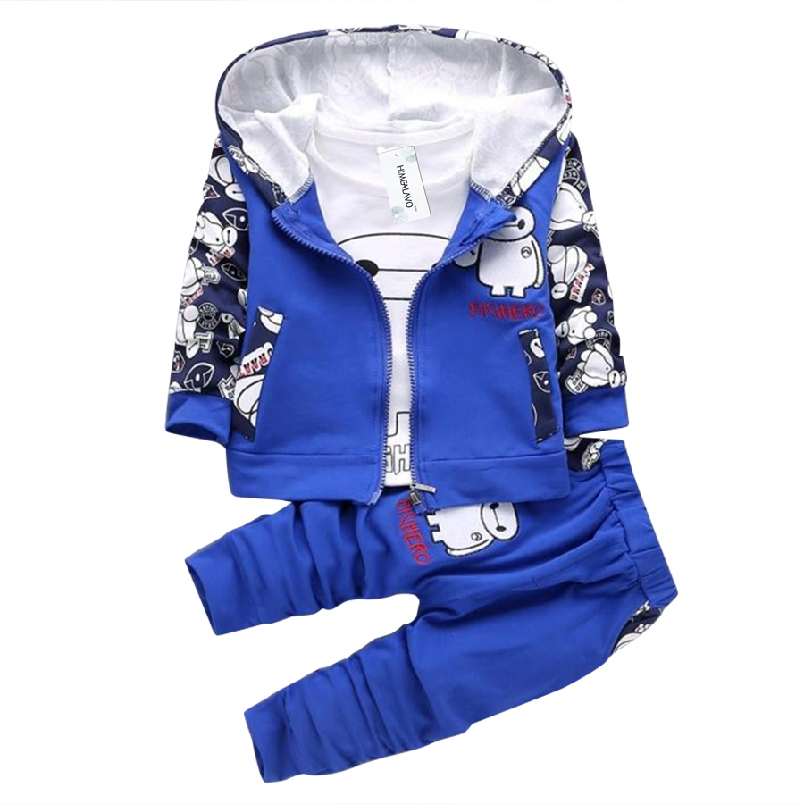 Autumn Boys Minnie gift Cartoon Girls Toddler Clothing Suits Children T Shirts Pants jacket Children Sports Sets baby clothes