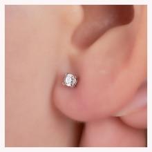 Natural Diamond 18k Gold Exquisite Round Elegant Classic Earrings