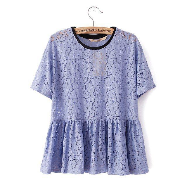 e904c12cbeca92 Vintage tops Cute doll elegant purple lace T-shirt girl 2015 new t shirt  women summer fashion casual top white renda roupas uk 4