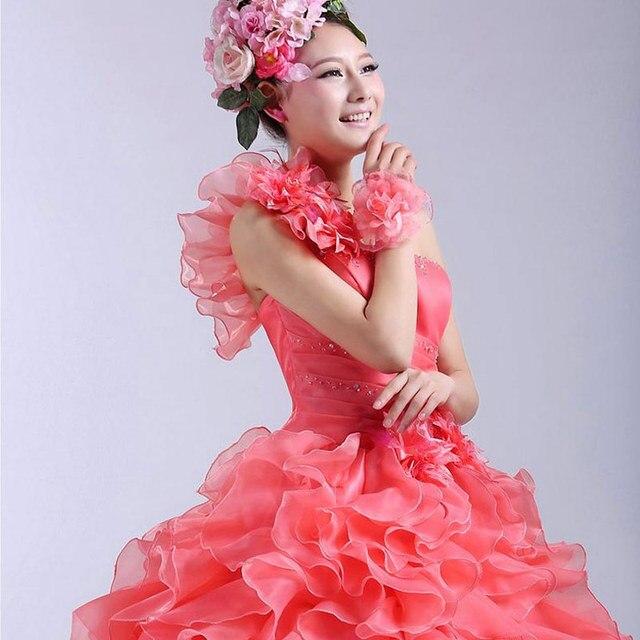 Suosikki Romantic 2020 Colorful Organza A line Beading Ruched One Shoulder Wedding Dress Bride Beautiful Party Vestidos De Novia 4